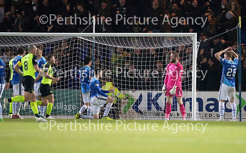 St Johnstone v Celtic…26.09.18…   McDiarmid Park     BetFred Cup Quarter Final<br />A furious Zander Clark reacts after Leigh Griffiths scores<br />Picture by Graeme Hart. <br />Copyright Perthshire Picture Agency<br />Tel: 01738 623350  Mobile: 07990 594431