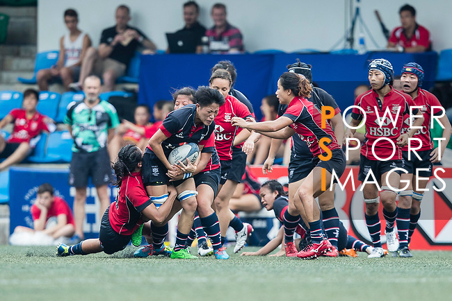 Siu Wing Ni Winnie of Dragons (C) in action during the Women's National Super Series 2017 on 13 May 2017, in Hong Kong Football Club, Hong Kong, China. Photo by Marcio Rodrigo Machado / Power Sport Images