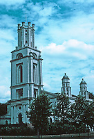 Nicholas Hawksmoor: St. George-in-the-East, Cannon St. Rd. E-1 Shadwell, 1714-1729. (Now only a bombed shell.)  Photo '90.