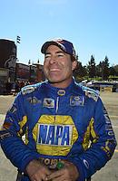 Nov. 11, 2012; Pomona, CA, USA: NHRA funny car driver Ron Capps during the Auto Club Finals at at Auto Club Raceway at Pomona. Mandatory Credit: Mark J. Rebilas-