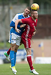 St Johnstone v Aberdeen…01.07.17  McDiarmid Park     Pre-Season Friendly <br />Liam Gordon and Adam Rooney<br />Picture by Graeme Hart.<br />Copyright Perthshire Picture Agency<br />Tel: 01738 623350  Mobile: 07990 594431