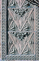 Louis Sullivan: Guaranty Bldg. Detail. Terra cotta panel at side of entrance.  Photo '88.