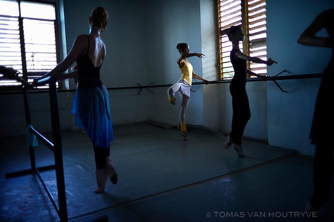 Ballet students at the Pro Danza school in Mariano, Havana, Cuba on Nov. 3, 2010.