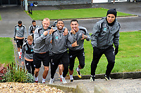(L-R) Mike van der Hoorn, Luciano Narsingh, Courtney Baker-Richardson and Jefferson Montero of Swansea City during the Swansea City Training Session at The Fairwood Training Ground, Wales, UK. Tuesday 11th September 2018