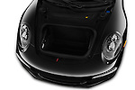 Car Stock 2016 Porsche 911 Black Edition 2 Door convertible Engine  high angle detail view