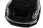 Car Stock 2016 Porsche 911 Black Edition 2 Door convertible Engine  high angle detail view