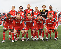 22 April 2009: Toronto FC starting eleven in a game at BMO Field in Toronto between Chivas USA and Toronto FC.Toronto FC won 1-0.