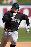 March 13, 2010 - Colorado Rockies' Michael McKenry #8 during a spring training game against the Milwaukee Brewers at Maryvale Baseball Park in Phoenix, Arizona.