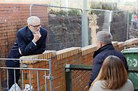 2020 02 20 Jeremy Corbyn, Rhydyfelin near Pontypridd, south Wales, UK