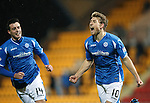 St Johnstone v Dundee....27.11.15  SPFL  McDiarmid Park, Perth<br /> David Wotherspoon celebrates his goal<br /> Picture by Graeme Hart.<br /> Copyright Perthshire Picture Agency<br /> Tel: 01738 623350  Mobile: 07990 594431