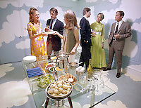 Dinner Party, New York City, 1970. Photo by John G. Zimmerman