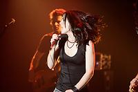 Lancement du CD ''A travers'' d'Andree Watters, 14 juin 2005, au Club Soda.<br /> <br /> PHOTO : Agence Quebec Presse