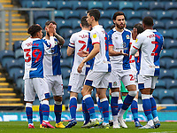The Blackburn Rovers team jee each other up before the game<br /> <br /> Photographer Alex Dodd/CameraSport<br /> <br /> The EFL Sky Bet Championship - Blackburn Rovers v Nottingham Forest - Saturday 17th October 2020 - Ewood Park - Blackburn<br /> <br /> World Copyright © 2020 CameraSport. All rights reserved. 43 Linden Ave. Countesthorpe. Leicester. England. LE8 5PG - Tel: +44 (0) 116 277 4147 - admin@camerasport.com - www.camerasport.com