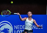 Alphen aan den Rijn, Netherlands, December 15, 2018, Tennispark Nieuwe Sloot, Ned. Loterij NK Tennis, Womans wheelchair final : Winner Dide de Groot (NED)<br /> Photo: Tennisimages/Henk Koster