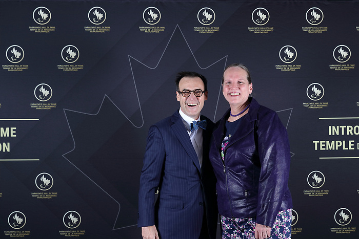 Vancouver, B.C. - November 15th, 2019 - Marc-Andre Fabien and Jane Blaine at the 2019 Canadian Paralympic Hall of Fame Induction Ceremony. Photo: Lydia Nagai/Canadian Paralympic Committee