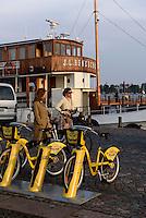 Leihfahrräder am Südhafen, Helsinki, Finnland