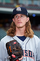 Colorado Springs Sky Sox pitcher Josh Hader (17) poses for a photo before a game against the Oklahoma City Dodgers on June 2, 2017 at Chickasaw Bricktown Ballpark in Oklahoma City, Oklahoma.  Colorado Springs defeated Oklahoma City 1-0 in ten innings.  (Mike Janes/Four Seam Images)