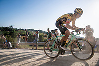 Wout Van Aert (BEL/Jumbo-Visma) leading the ahead of winning this 14th Strade Bianche 2020 after finishing 3rd twice in his 2 previous attemps at the race.<br /> Siena > Siena: 184km (ITALY)<br /> <br /> delayed 2020 (summer!) edition because of the Covid19 pandemic > 1st post-Covid19 World Tour race after all races worldwide were cancelled in march 2020 by the UCI