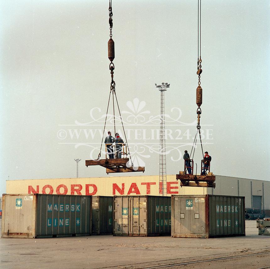April 1991. Noord Natie in de Haven van Antwerpen.