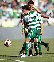CARSON, California - July 8, 2012: Team Leon FC defeated Santos Laguna FC 2-0 during an International friendly match at Home Depot Center stadium.