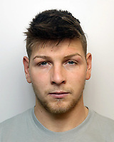 Pictured: Undated Dyfed Powys Police custody picture of Joshua Middleton<br /> Re: A promising Welsh rugby player has been jailed for nine years by Swansea Crown Court, for causing grievous bodily harm with intent near a Llanelli nightclub.<br /> Joshua Jordan Middleton, of Burry Port, caused grievous bodily harm at Island Place, Llanelli, to Darren Edmundson – who has been left with damage to his brainl.<br /> The 21-year-old also faced charges of assaulting PC Burton and PC Jones in the execution of their duties. <br /> No application for bail was made, and he had been remanded in custody.<br /> The talented flanker, who weights 16 stone and is 6ft 4ins, represented the Wales under-18s rugby team and is a former Carmarthen Quins player.