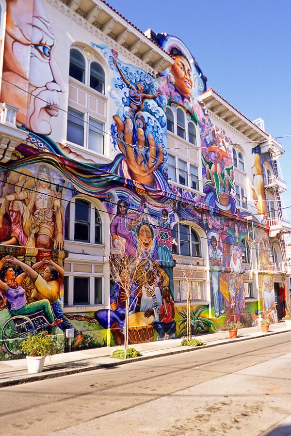 San Francisco, California - Mural, Women's Building, Mission District.
