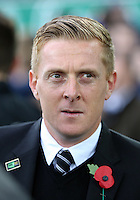 Liverpool, UK. Saturday 01 November 2014<br /> Pictured: Swansea manager Garry Monk<br /> Re: Premier League Everton v Swansea City FC at Goodison Park, Liverpool, Merseyside, UK.