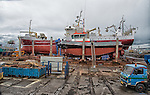 Ships in drydock at main harbour