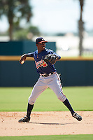 Atlanta Braves Yunior Severino (17) during an Instructional League game against the Washington Nationals on September 30, 2016 at Space Coast Stadium in Melbourne, Florida.  (Mike Janes/Four Seam Images)