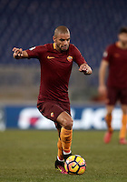 Calcio, Serie A: Roma vs Cagliari, Roma, stadio Olimpico, 22 gennaio 2017.<br /> Roma's Bruno Peres in action during the Italian Serie A football match between Roma and Cagliari at Rome's Olympic stadium, 22 January 2017. <br /> UPDATE IMAGES PRESS/Isabella Bonotto