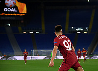 Football Soccer: Europa League -Round of 16 1nd leg AS Roma vs FC Shakhtar Donetsk, Olympic Stadium. Rome, Italy, March 11, 2021.<br /> Roma's Stephan El Shaarawy celebrates after scoring during the Europa League football soccer match between  Roma and  Shakhtar Donetsk at Olympic Stadium in Rome, on March 11, 2021.<br /> UPDATE IMAGES PRESS/Isabella Bonotto