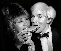 Tina Turner Andy Warhol 1980<br /> Photo By Adam Scull/PHOTOlink.net
