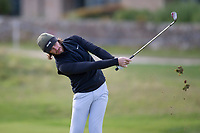 3rd October 2021; The Old Course, St Andrews Links, Fife, Scotland; European Tour, Alfred Dunhill Links Championship, Fourth round; Tommy Fleetwood of England hits a shot from the fairway on the second hole during the final round of the Alfred Dunhill Links Championship on the Old Course, St Andrews