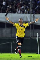 MONTEVIDEO - URUGUAY - 07-02-2015: Joao Rodriguez, jugador de Colombia, celebra el gol anotado a Brasil, durante partido del Sudamericano Sub 20 entre los seleccionados de Colombia y Brasil en el estadio Centenario de la ciudad de Montevideo. / Joao Rodriguez, player of Colombia, celebrayes a scored goal to Brasil, during the match for the Sudamericano U 20 between the teams of Colombia and Brasil in the Centenario stadium in Montevideo city,  Photo: Andres Gomensoro  / Photosport / VizzorImage.