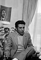 Gilbert Becaud dans les studios de la station de radio CJRP,a Quebec,<br /> le 18 septembre 1970<br /> <br /> Photo : Photo Moderne - © Agence Quebec Presse<br /> <br />  NOTE : Lorsque requis la photo commandée sera recadrée et ajustée parfaitement.