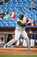 Fort Wayne TinCaps first baseman Trae Santos (16) at bat during a game against the Lake County Captains on May 20, 2015 at Classic Park in Eastlake, Ohio.  Lake County defeated Fort Wayne 4-3.  (Mike Janes/Four Seam Images)
