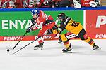 Eishockey: Deutschland – Tschechien am 01.05.2021 in der ARENA Nürnberger Versicherung in Nürnberg<br /> <br /> Deutschlands Justin Schütz (Nr.10) gegen Tschechiens Peter Koditek (Nr.88)<br /> <br /> Foto © Duckwitz/osnapix/PIX-Sportfotos *** Foto ist honorarpflichtig! *** Auf Anfrage in hoeherer Qualitaet/Aufloesung. Belegexemplar erbeten. Veroeffentlichung ausschliesslich fuer journalistisch-publizistische Zwecke. For editorial use only.