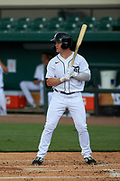 Detroit Tigers Daniel Cabrera (17) bats during a Florida Instructional League game against the Toronto Blue Jays on October 19, 2020 at Joker Marchant Stadium in Lakeland, Florida.  (Mike Janes/Four Seam Images)