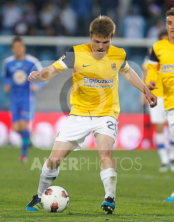 Real Sociedad's Asier Illarramendi during La Liga match.March 17,2012. (ALTERPHOTOS/Acero)
