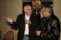 Montreal (QC) CANADA- 2004 file - Finalists  at Genies 2004 :Roger Frappier (L), Raymond Bouchard (R)
