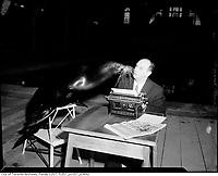 Circa 1955 file photo - Al Nicholson of the Globe and Mail