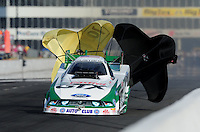 May 14, 2011; Commerce, GA, USA: NHRA funny car driver Mike Neff during qualifying for the Southern Nationals at Atlanta Dragway. Mandatory Credit: Mark J. Rebilas-