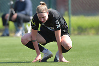Marie Bougard (10) of Woluwe  pictured during a female soccer game between SV Zulte - Waregem and White Star Woluwe on the 10 th and last matchday in play off 2 of the 2020 - 2021 season of Belgian Scooore Womens Super League , saturday 29 of May 2021  in Zulte , Belgium . PHOTO SPORTPIX.BE | SPP | DIRK VUYLSTEKE