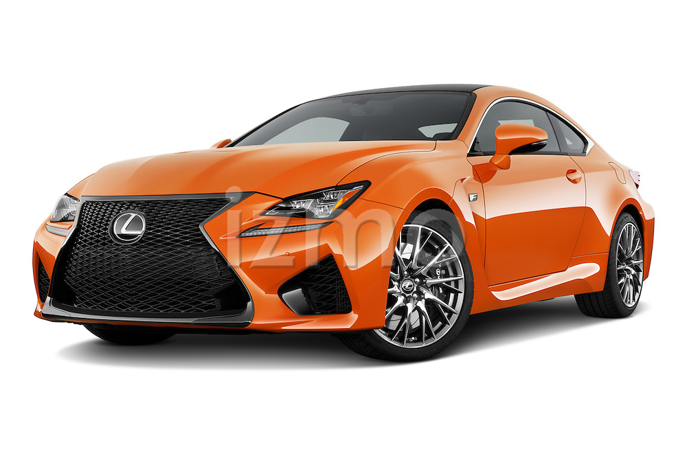 Stock pictures of low aggressive front three quarter view of2015 Lexus RC F 2 Door Coupe Low Aggressive