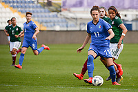 20190227 - LARNACA , CYPRUS : Italian forward Ilaria Mauro pictured during a women's soccer game between Mexico and Italy , on Wednesday 27 February 2019 at the Antonis Papadopoulos Stadium in Larnaca , Cyprus . This is the first game in group B for both teams during the Cyprus Womens Cup 2019 , a prestigious women soccer tournament as a preparation on the FIFA Women's World Cup 2019 in France and the Uefa Women's Euro 2021 qualification duels. PHOTO SPORTPIX.BE | STIJN AUDOOREN