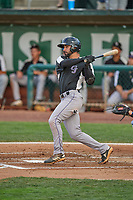 Vinny Esposito (8) of the Grand Junction Rockies at bat against the Ogden Raptors at Lindquist Field on June 5, 2021 in Ogden, Utah. The Raptors defeated the Rockies 18-1. (Stephen Smith/Four Seam Images)
