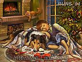 Nadia, CHRISTMAS CHILDREN, WEIHNACHTEN KINDER, NAVIDAD NIÑOS, paintings+++++,RUNS04,#XK# ,puzzle,puzzles,collie,dog,chimney