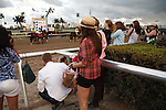 On post parade for the 57th running of the Donn Handicap (G1) at Gulfstream Park.  Hallandale Beach Florida. 02-09-2013