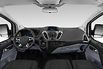 Stock photo of straight dashboard view of 2018 Ford Transit-Custom Trend 4 Door Passanger Van Dashboard