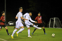 SWANSEA, WALES - JANUARY 26:   Swansea under 21s v QPR <br /> <br /> Swansea's Kenji Gorre strike scored Swansea's first goal of the match.